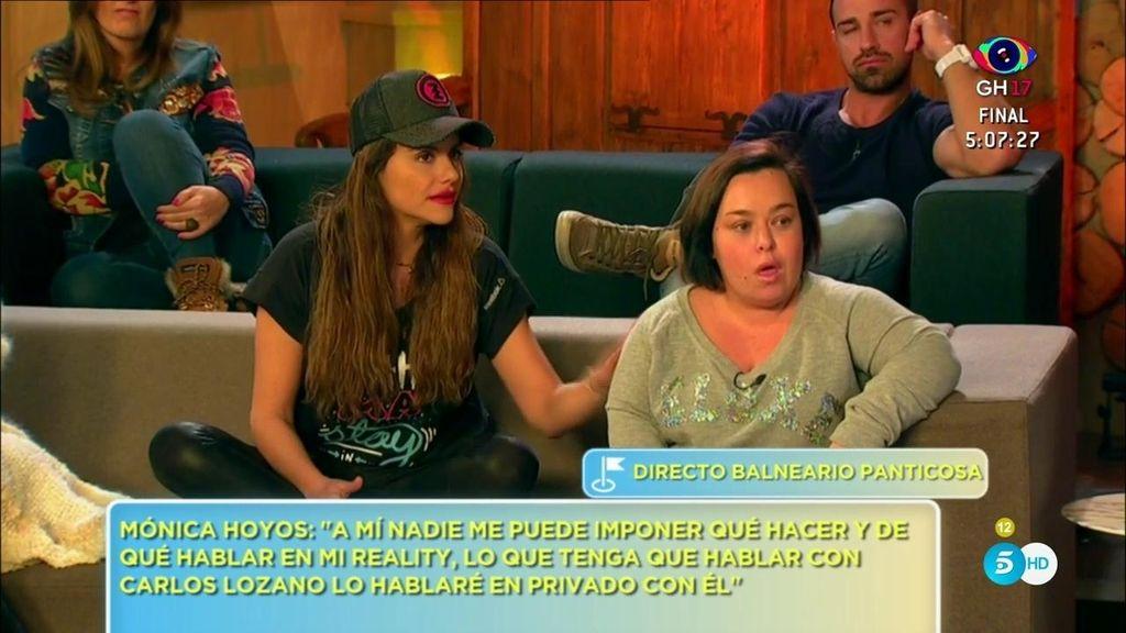 Según Chiqui, Mónica Hoyos se planteó renunciar a su sillón como colaboradora