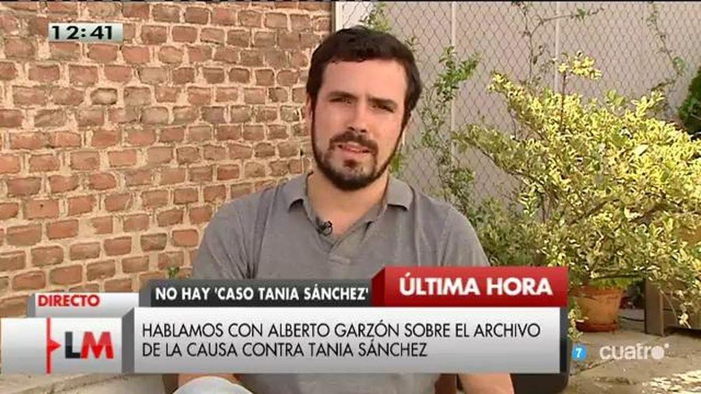 """A. Garzón, sobre Tania Sánchez: """"Es una gran noticia que se haga justicia"""""""