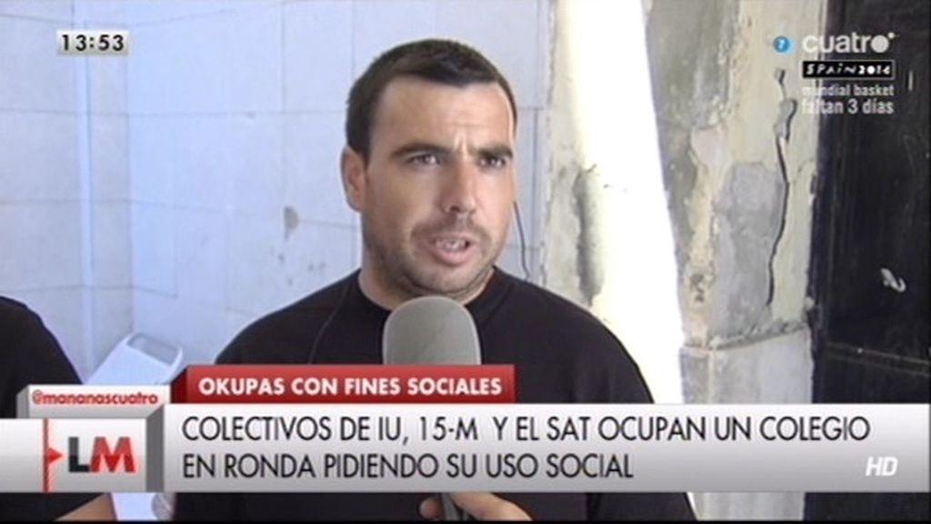 """Alejandro: """"Hemos 'okupado' un edificio para reclamar un comedor social"""""""