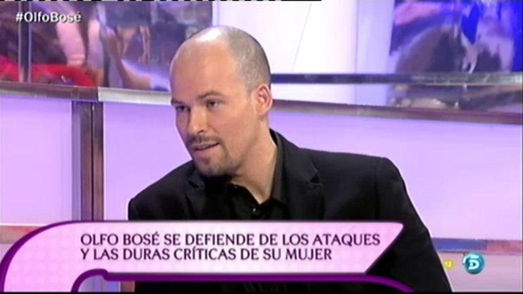 """Olfo Bosé: """"Nunca he sido un mantenido, he trabajado durante 20 años"""""""