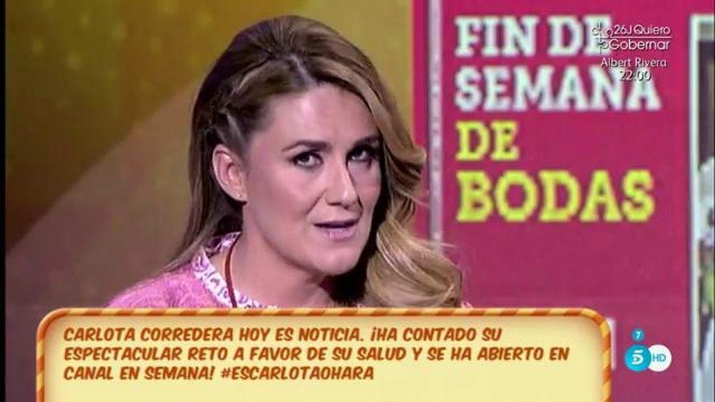 """Carlota Corredera: """"He perdido 50 kilos por salud y por mi hija"""""""