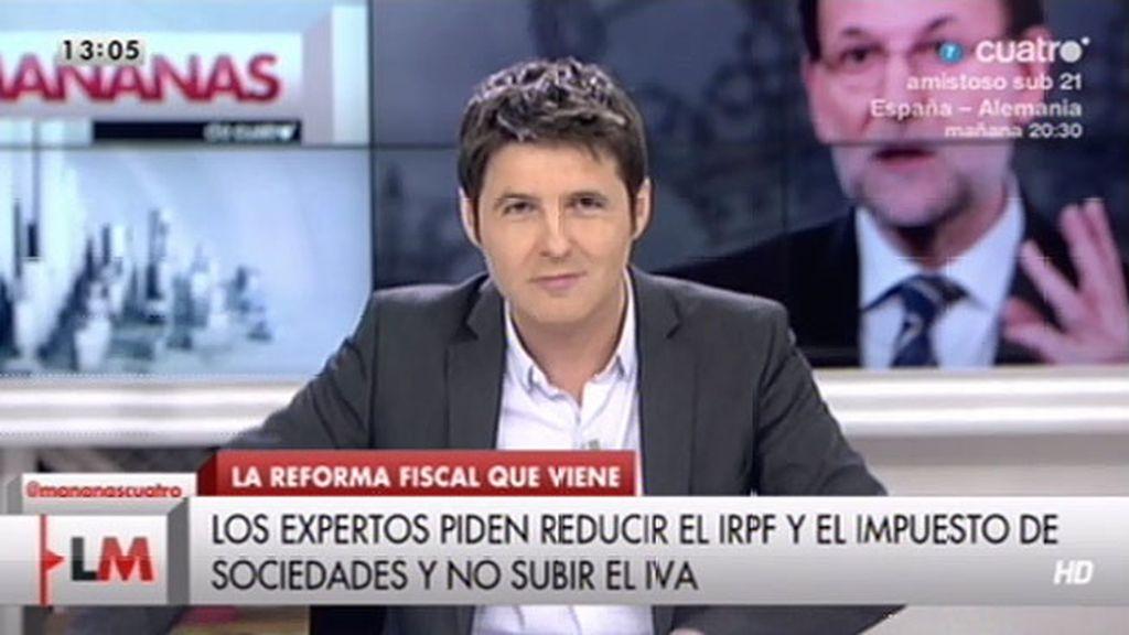 """Cintora, sobre Rajoy: """"Usted vote en mayo que en junio vamos a bajar los impuestos"""""""