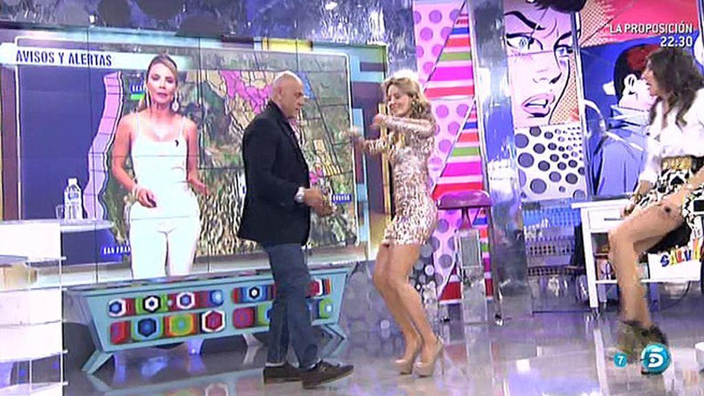 Ximena Córdoba revoluciona el plató... ¡enseñando a bailar reggaeton!