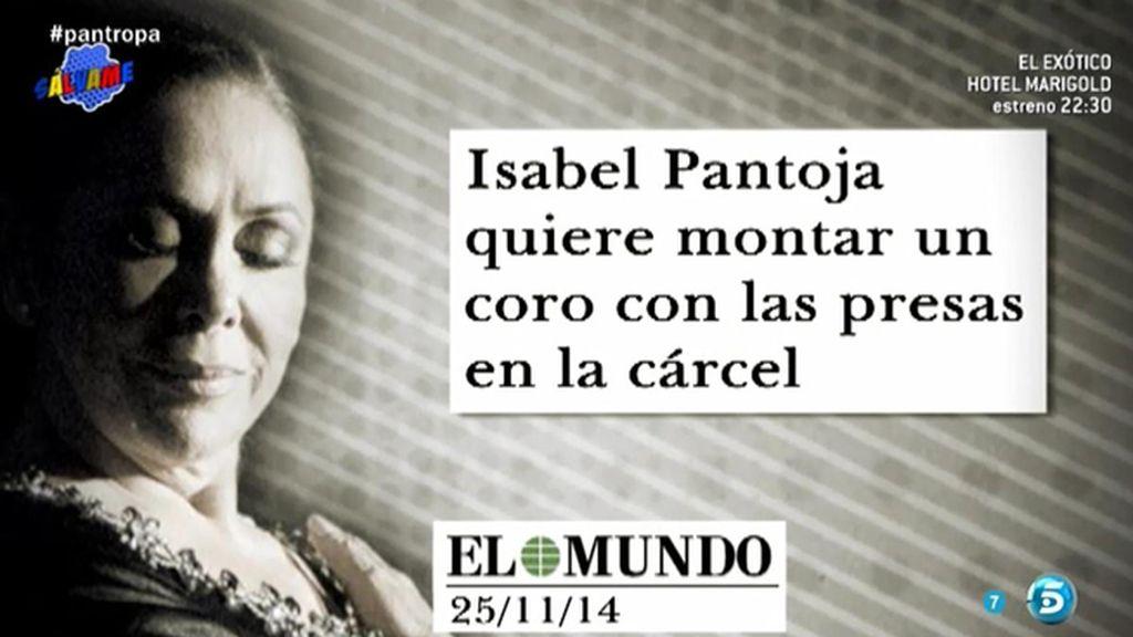 Isabel Pantoja desea montar un coro con las presas en la cárcel y escribir un diario