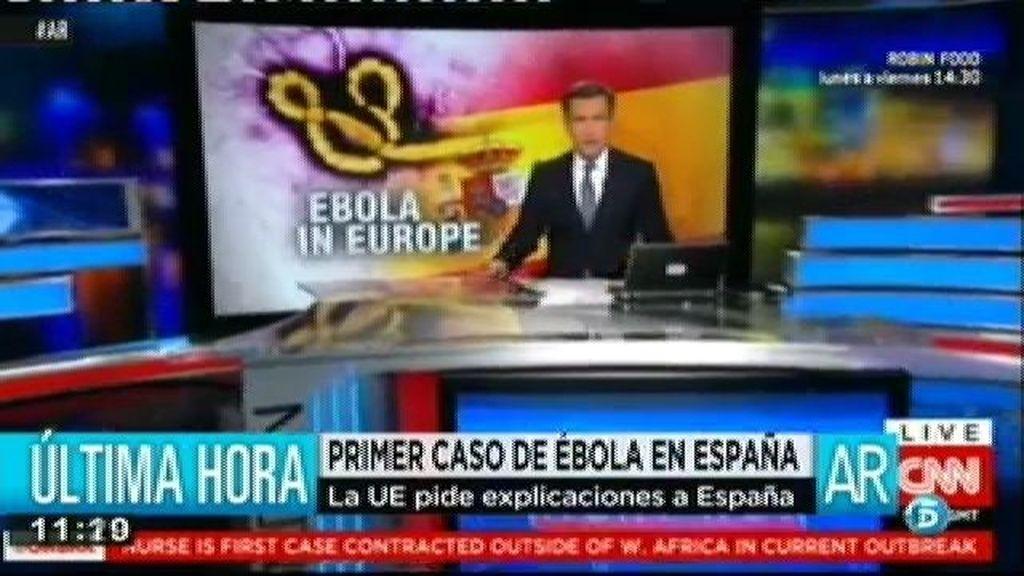 El primer caso de contagio de ébola fuera de África copa la actualidad en los informativos internacionales