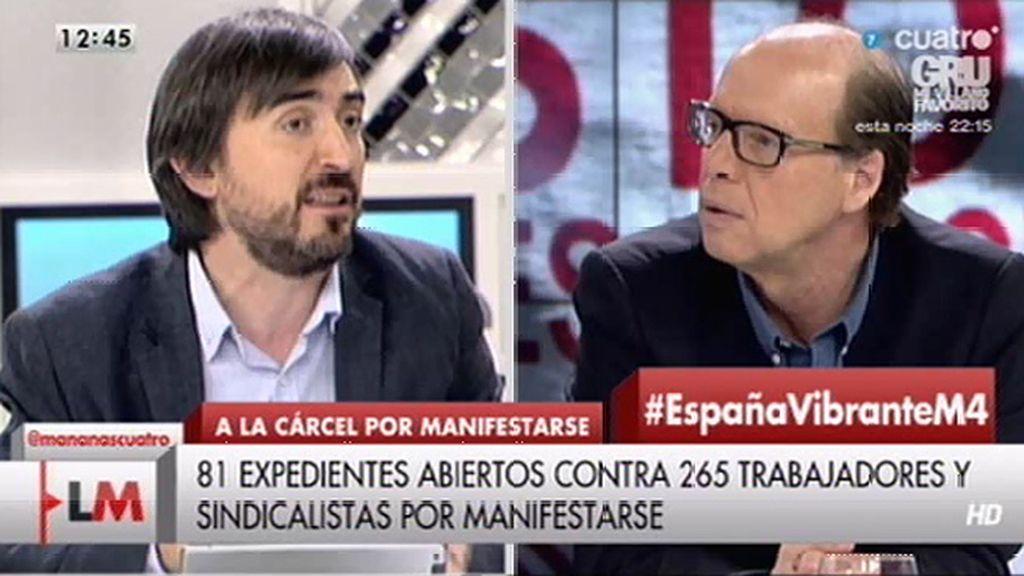 """Jaime González: """"Nadie que se manifieste por los cauces legales tiene que tener miedo alguno de ir a prisión"""""""