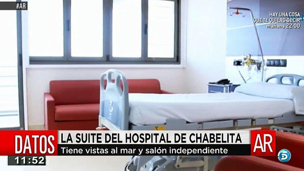 La suite del hospital donde ha dado a luz Chabelita tiene vistas al mar y salón independiente