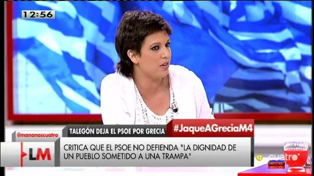 """B. Talegón: """"El PSOE se ha puesto del lado de la derecha, de la Troika, la gran coalición ya se ha producido y ahí ya no estoy"""""""