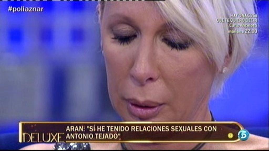 Aran Aznar se derrumba y confiesa que hubo sexo con Antonio Tejado