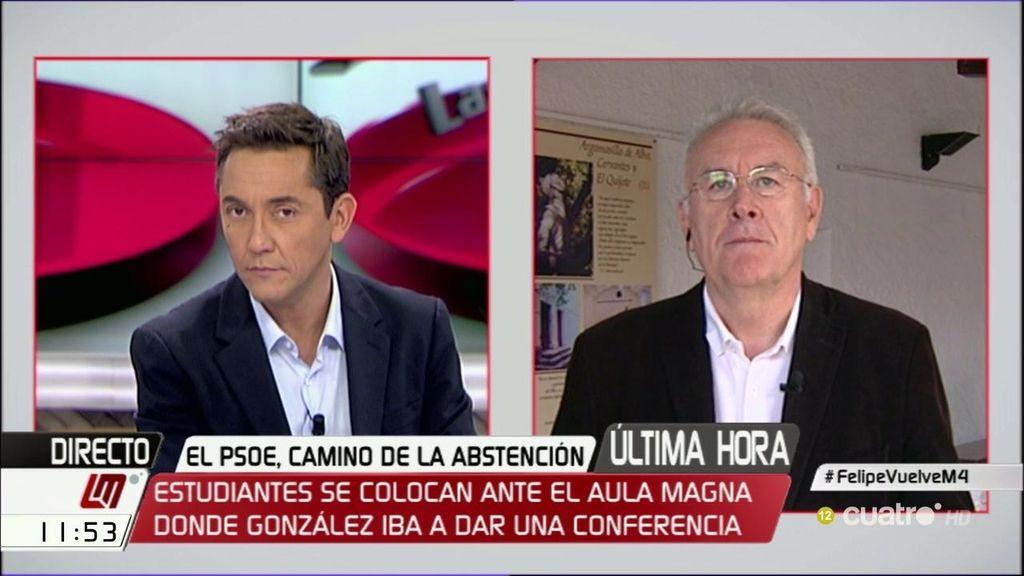 """Cayo Lara, sobre el PSOE: """"Creo que están entre el susto y la muerte"""""""