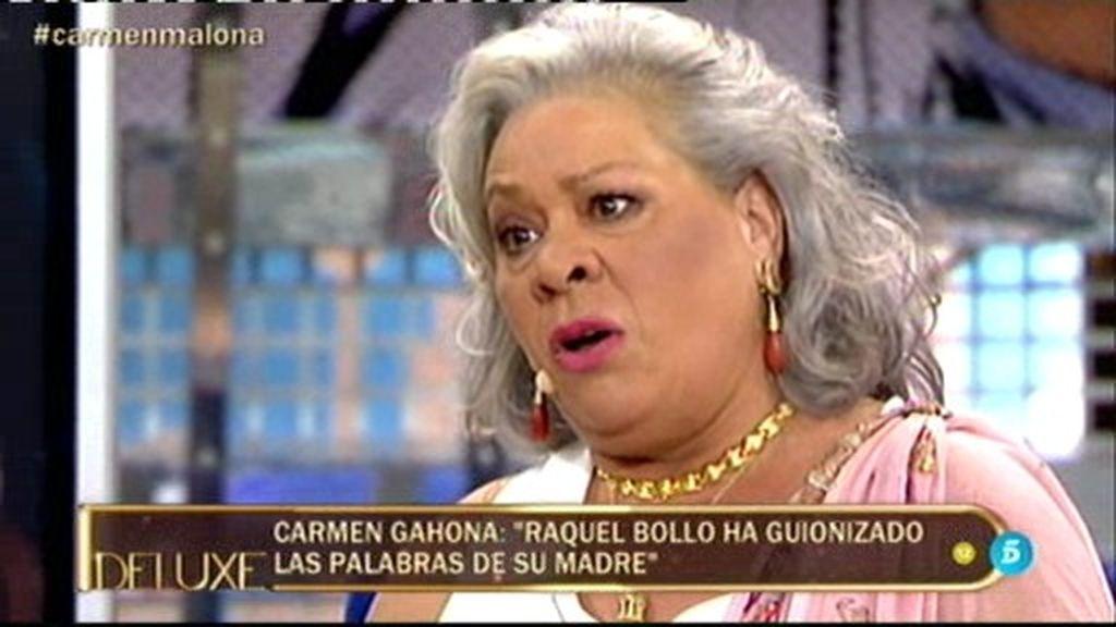 """Carmen Gahona: """"Raquel entraba en los camerinos buscando a Chiquetete"""""""