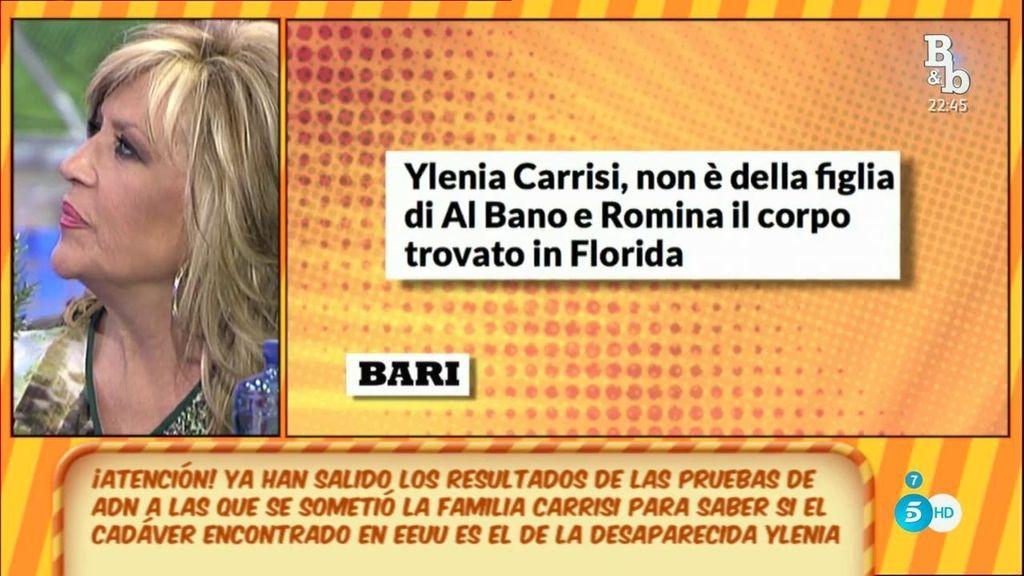 El cuerpo encontrado en Florida no es el de Ylenia Carrisi, según la prensa italiana