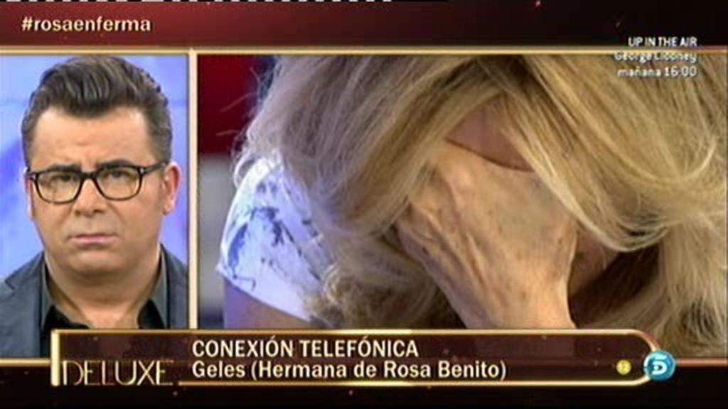 """Geles, hermana de Rosa Benito: """"Es cierto que a mi hermana le han dado el alta"""""""