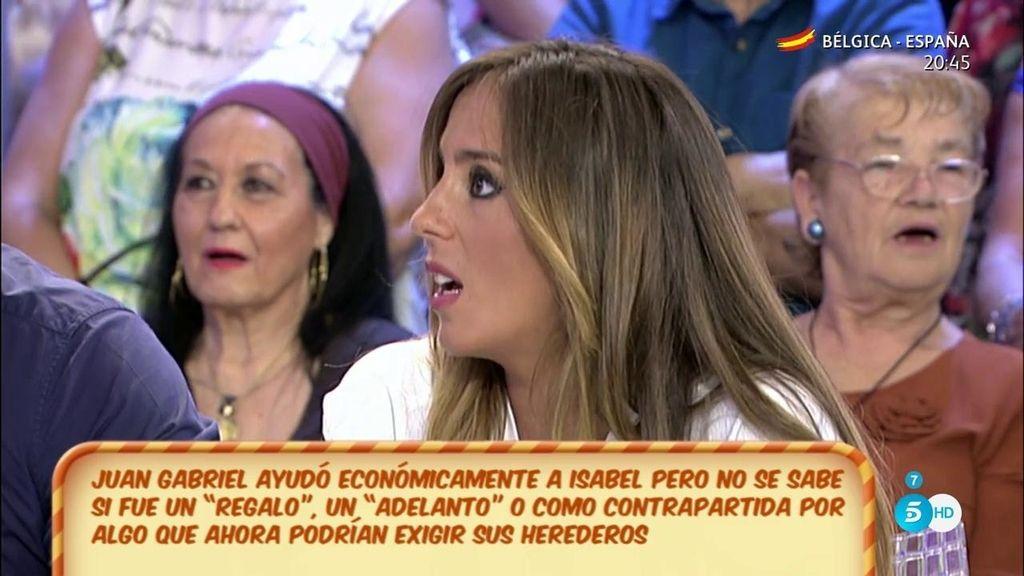 """Anabel, de Isabel Pantoja: """"Va a estar a la altura pero con Juan Gabriel iba a ser de otra manera"""""""