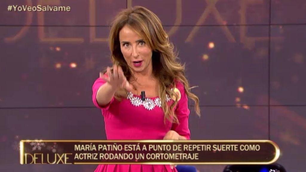 ¡María Patiño protagonizará un corto!