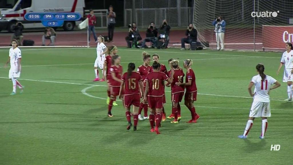Sonia Bermúdez hace el 13-0 al aprovechar un regalo de la portera de Montenegro