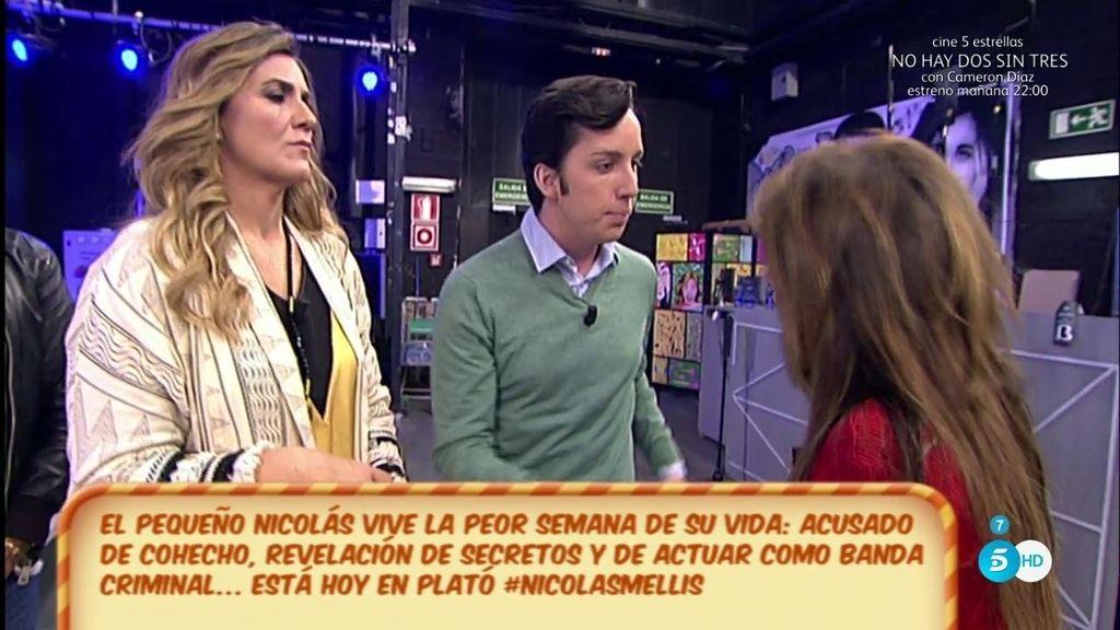 María Patiño y Francisco Nicolás se enrredan en una disputa de reproches