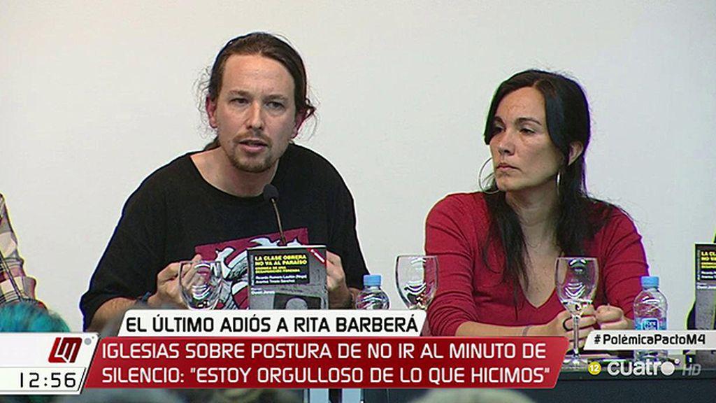 """Pablo Iglesias: """"En la calle me felicitan por no guardar el minuto de silencio"""""""