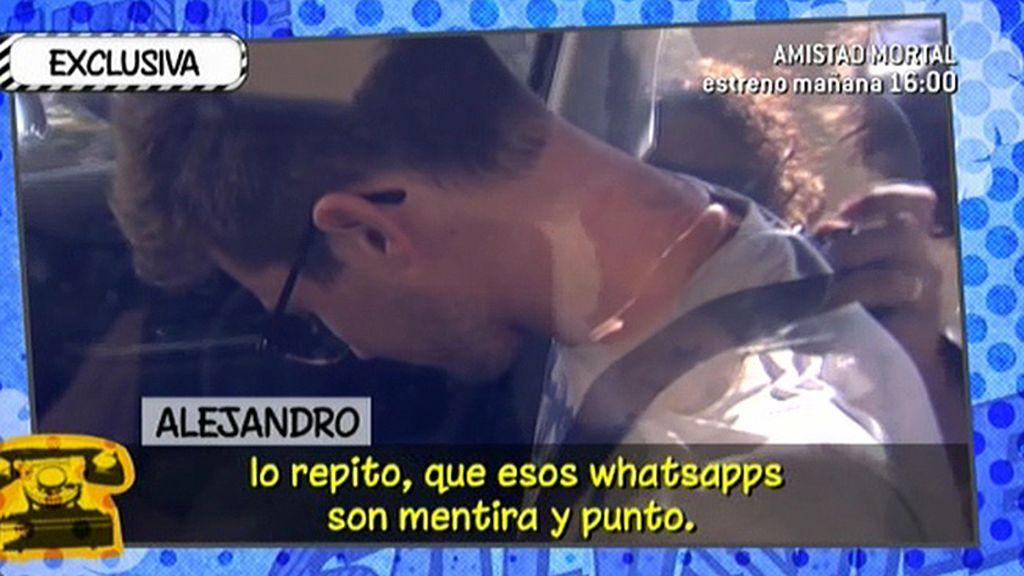 """Alejandro: """"No he hablado mal de Isabel y nunca lo voy a hacer"""""""