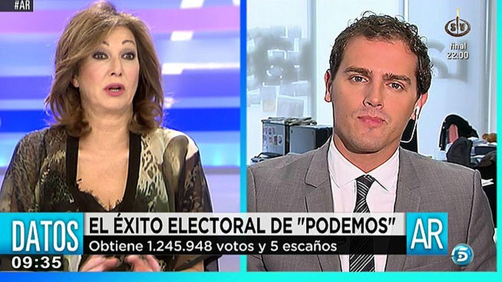 """Albert Rivera, tras conseguir dos eurodiputados: """"Ha nacido un proyecto nacional"""""""
