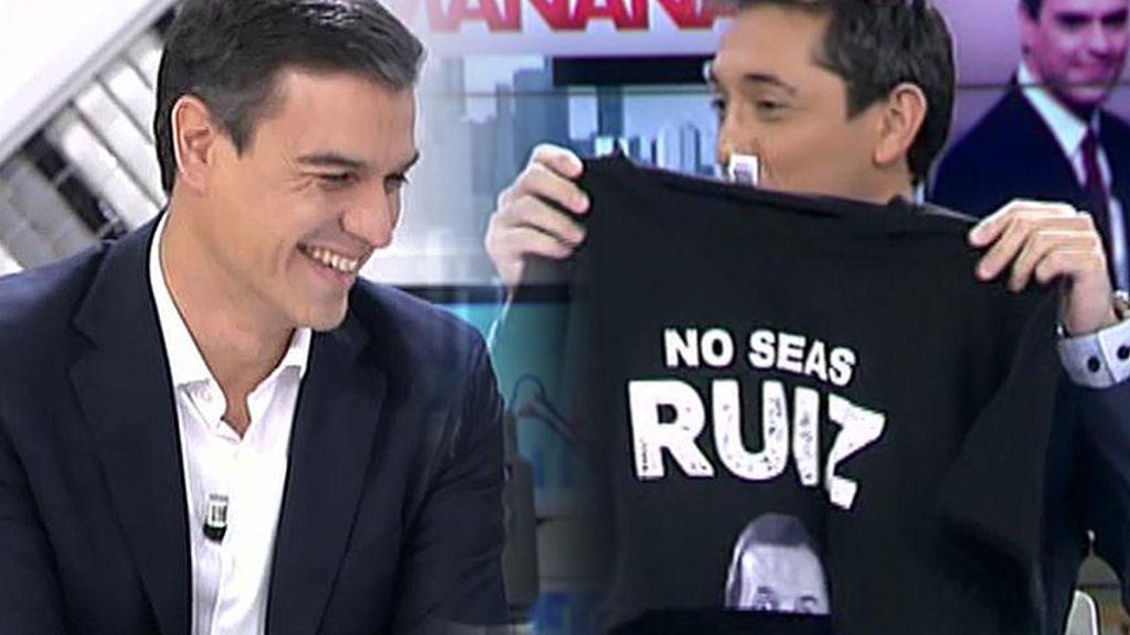 Una camiseta para Pedro Sánchez