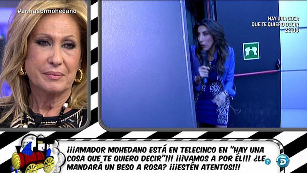 Paz Padilla recorre todo Telecinco en busca de Amador Mohedano
