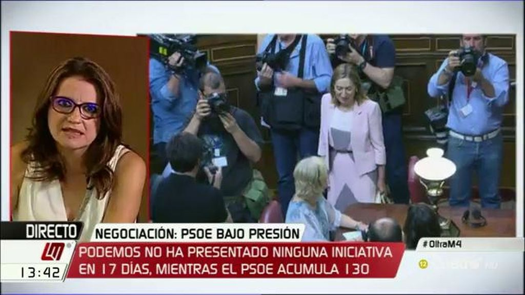 """Oltra: """"Es difícilmente aceptable que Rajoy lleve las negociaciones desde el secuestro de otras instituciones como las comunidades"""""""
