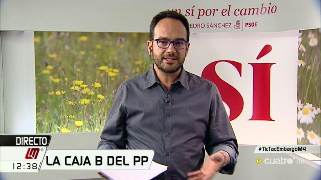"""Antonio Hernando: """"No quiero que los delitos de los tesoreros del PP los paguemos los ciudadanos"""""""