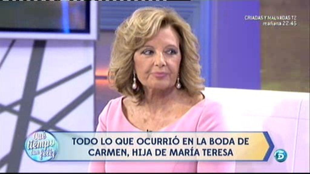Así fueron las palabras que María Teresa Campos le dedicó a Carmen y a José Carlos