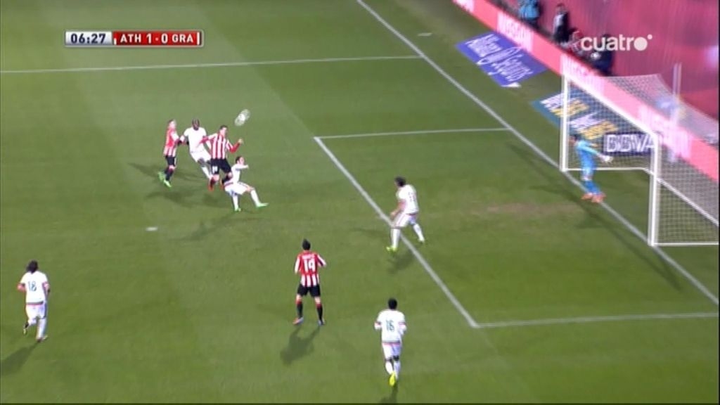 Gol de Aduriz (Athletic 1-0 Granada)