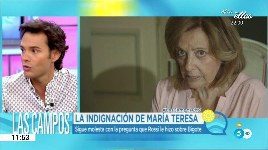 "Rossi se disculpa con Mª Teresa: ""Lamento profundamente haberle hecho daño"""