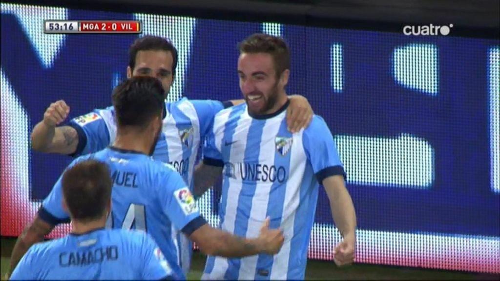 Gol de Darder (Málaga 2-0 Villarreal)