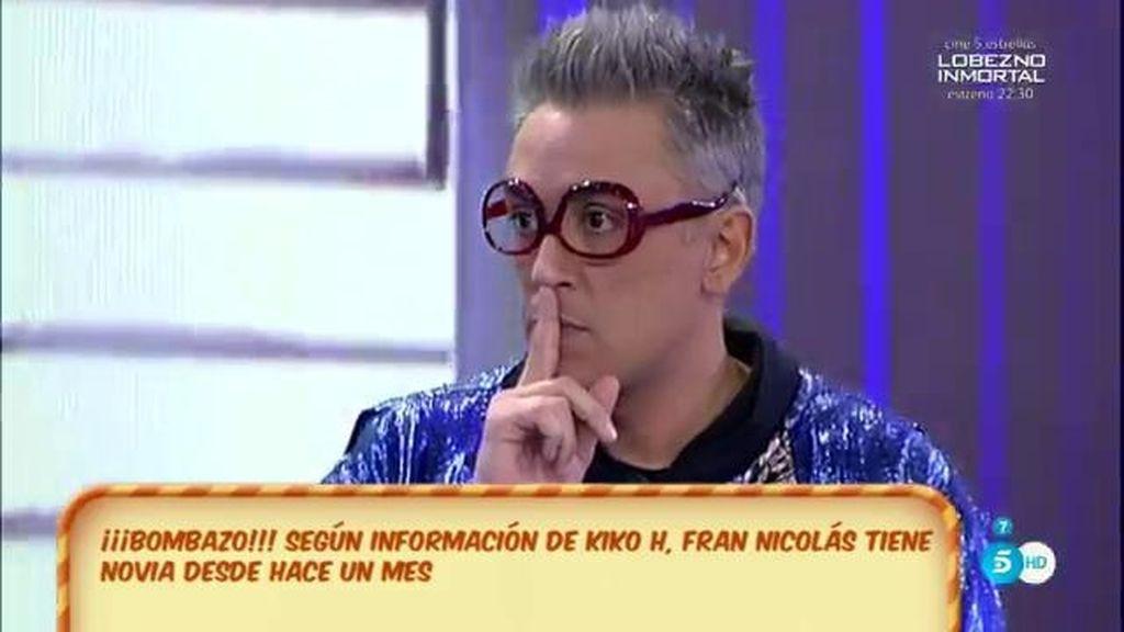 """Bombazo de Kiko Hernández: """"¡Fran Nicolás tiene novia!"""""""