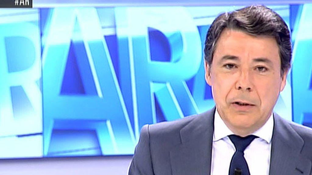 """Ignacio González: """"Aguirre no debe dimitir, lo hizo mal pero ha pedido perdón"""""""