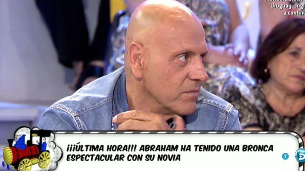"""Jorge Javier Vázquez: """"Abraham ha tenido una gran discusión con su novia"""""""