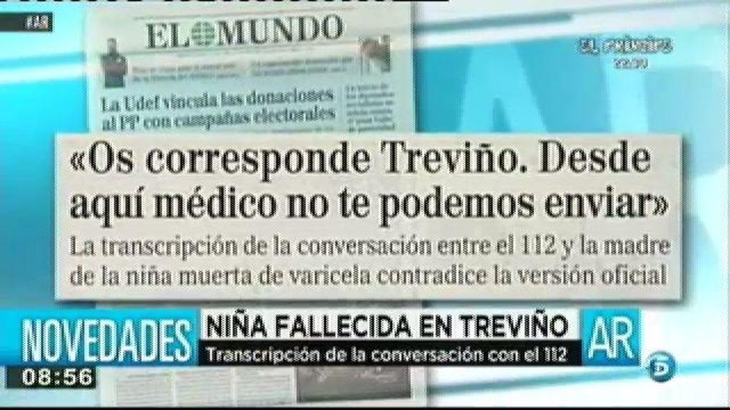 Las grabaciones del 112 confirman que negaron la ambulancia a la menor fallecida en Treviño