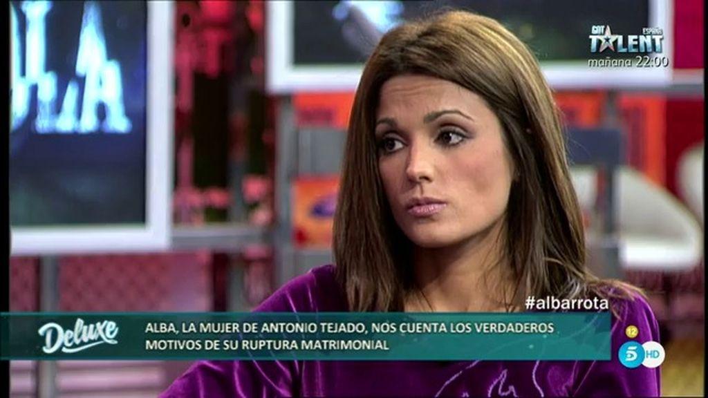 """Alba: """"Por mi parte es definitiva la ruptura con Antonio Tejado, no hay vuelta atrás"""""""