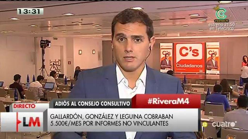 """Rivera, del fin del Consejo Consultivo: """"Algunos dicen que nada cambia... Algo se puede hacer desde la oposición"""""""