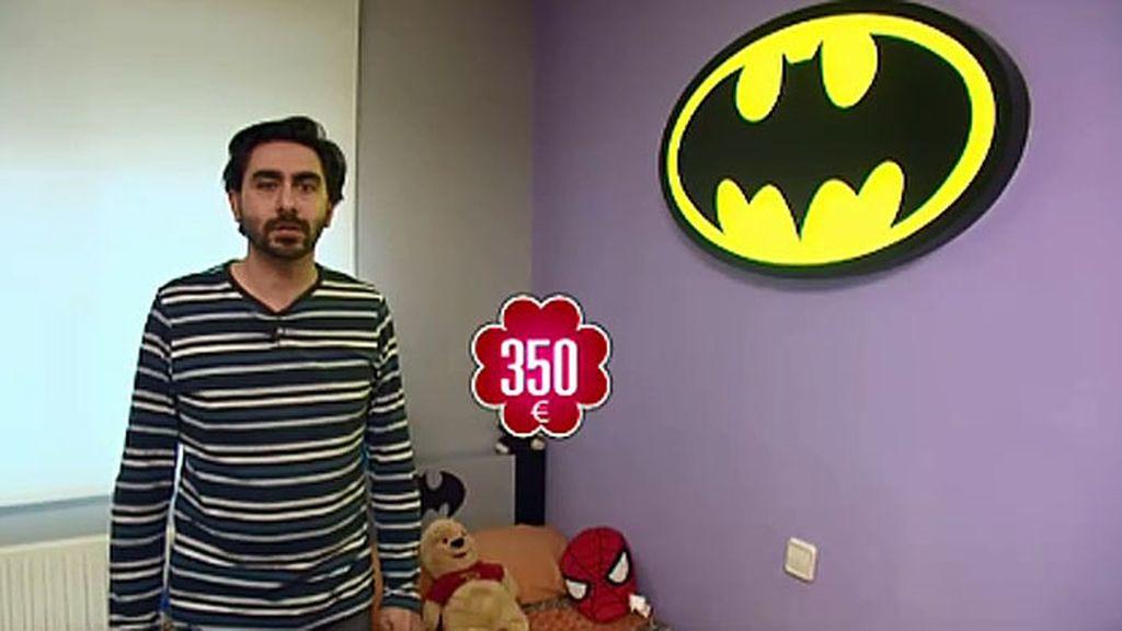 Vendo: lámpara de Batman fabricada a mano, hecha de hierro y con luces led