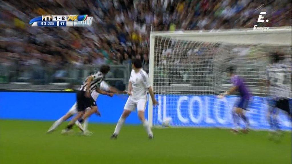 Tacchinardi se adelanta a la defensa del Madrid y acerca a la Juve