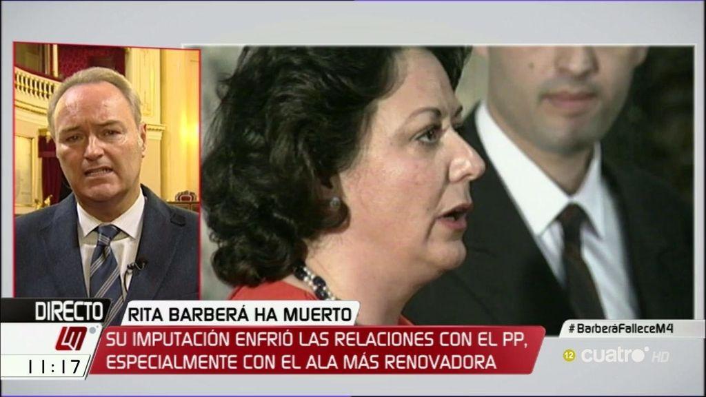 """Alberto Fabra, sobre Rita: """"En los últimos meses se la veía con menos fuerza"""""""