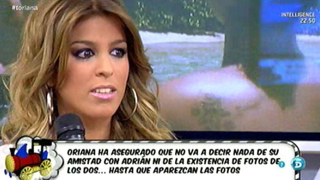 """Oriana: """"No me he besado con Adrián"""""""