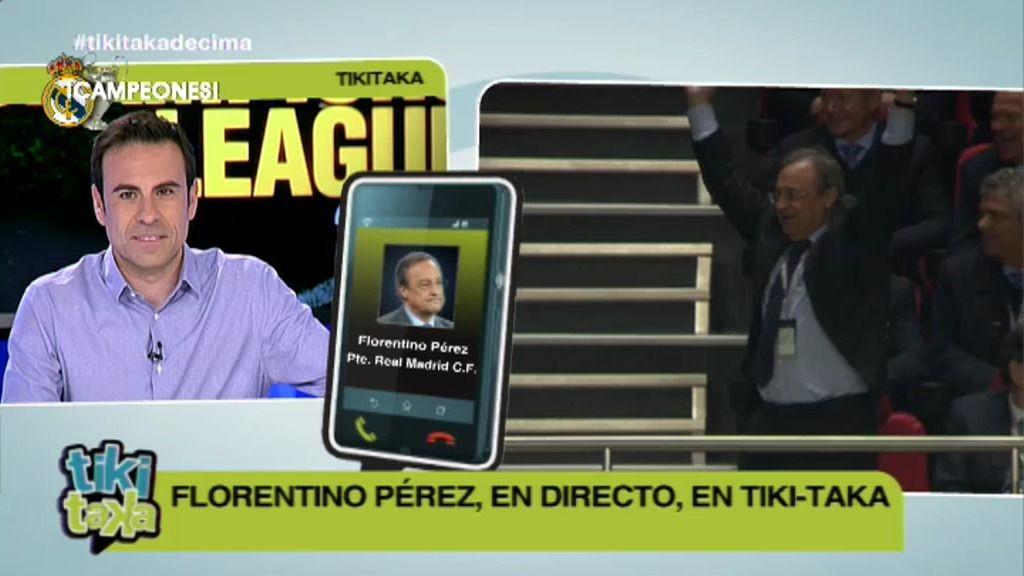 """Florentino Pérez: """"Estaba convencido de que el gol llegaría hasta el último minuto"""""""
