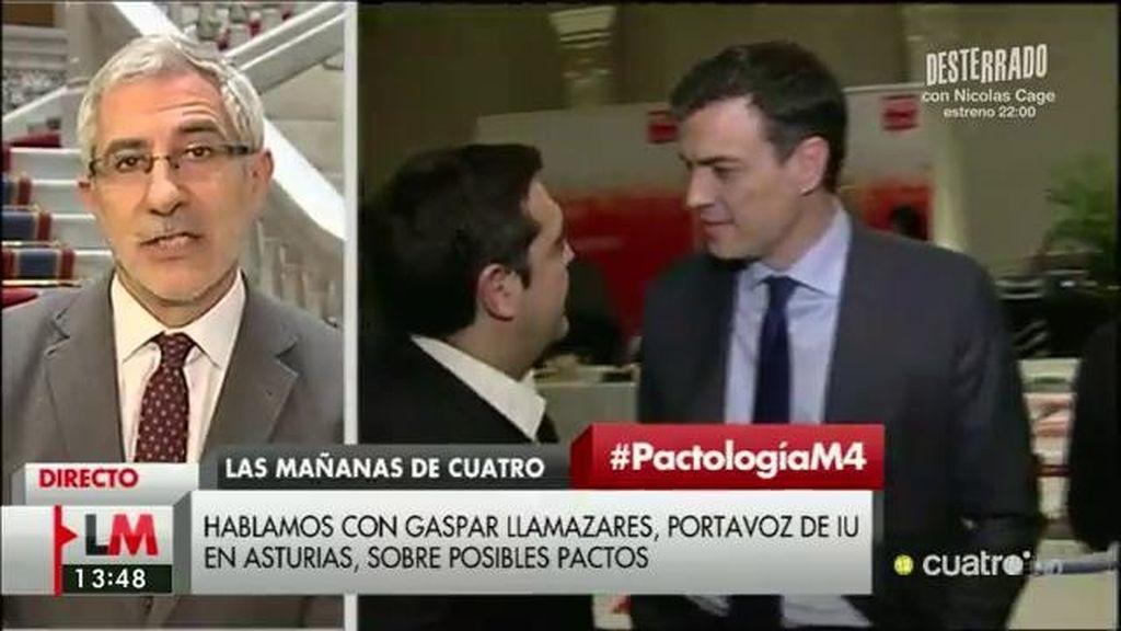 """Llamazares, de la petición de Sánchez a Tsipras: """"Es un esperpento"""""""