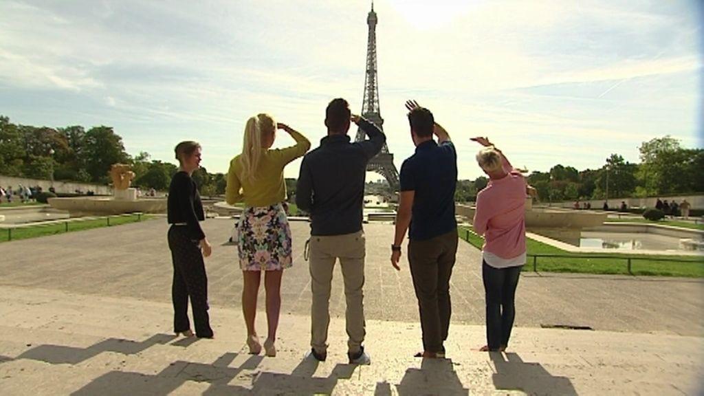 "Mateo, muy sincero tras ver la Torre Eiffel: ""Esto 'pa' chatarra no veas"""