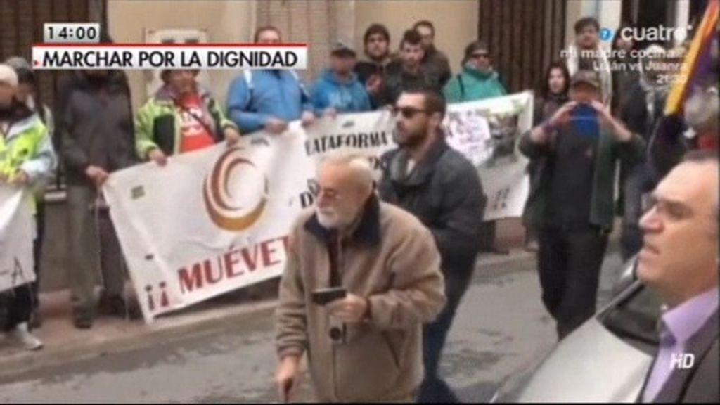 El alcalde de Caudete se enfrenta con 'Marchas por la dignidad'