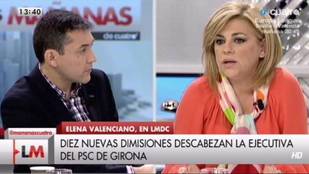 """Elena Valenciano: """"Donde hay un buen lío es en Cataluña, ojalá fuera un lío del PSC"""""""