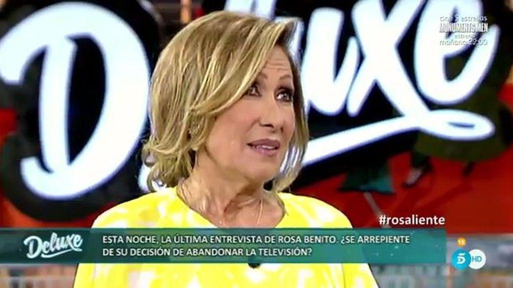 """Rosa Benito: """"Yo nunca digo la 'última' vez, me gusta decir siempre la 'penúltima"""""""