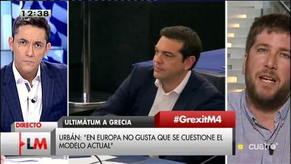 """M. Urban: """"No se está frenando a Podemos, se está frenando la idea de que es posible una Europa diferente"""""""