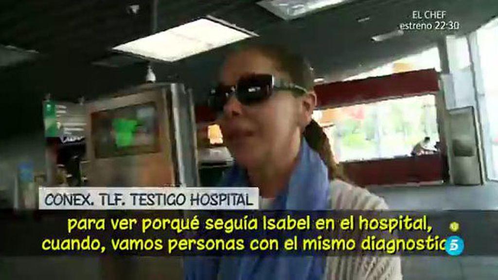 Según un testigo, Isabel Pantoja se negaba a abandonar el hospital